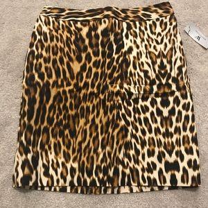 Leopard Worthington Skirt Size 4